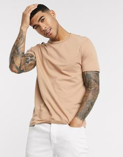 River Island - T-Shirt in Stone