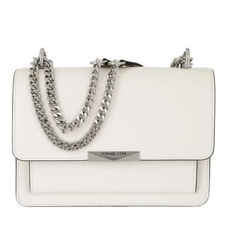 MICHAEL KORS - Umhängetasche - Jade LG Gusset Shoulder Bag Optic White - in weiß - für Damen