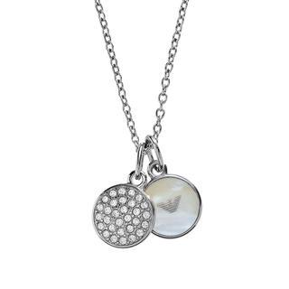 Emporio Armani - Halskette - Signature Necklace Silver - in silber - für Damen