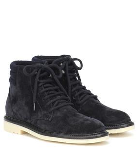 Loro Piana - Ankle Boots Icer Walk aus Veloursleder