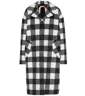 N°21 - Karierter Mantel mit Wollanteil