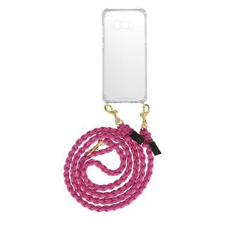 fashionette - Smartphone Case - Smartphone Galaxy S8 Plus Necklace Braided Berry - in pink - für Damen