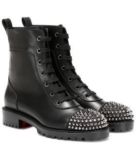 Christian Louboutin - Verzierte Ankle Boots aus Leder