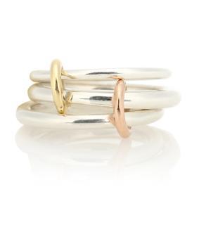 Spinelli Kilcollin - Ring Daphne aus Sterlingsilber mit 18kt Gelb- und Roségold