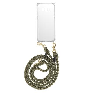 fashionette - Smartphone Case - Smartphone Galaxy S8 Plus Necklace Braided Olive - in schwarz - für Damen