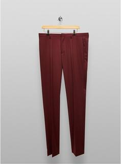 Topman - Mens Red Big & Tall Burgundy Skinny Fit Suit Trousers*, Red