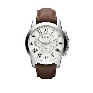 Fossil - Uhr - Grant Dress Watch Silver - in braun - für Damen