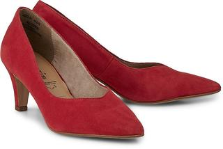 Tamaris - Velours-Pumps in rot, Pumps für Damen