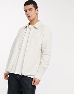 Weekday - Ahmed – Weiße Hemdjacke aus Leinen