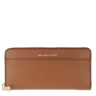 MICHAEL KORS - Portemonnaie - Jet Set Pocket Ziparound Continental Wallet Luggage - in braun - für Damen