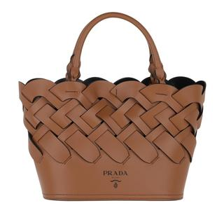 Prada - Beuteltasche - Woven Bucket Bag Brown - in braun - für Damen