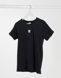 THE NORTH FACE - Schwarzes Boyfriend-T-Shirt mit mittigem Logo