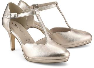 Tamaris - Spangen-Pumps in gold, Pumps für Damen
