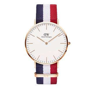Daniel Wellington - Uhr - Classic Cambridge 40 mm Blue White Red - in bunt - für Damen