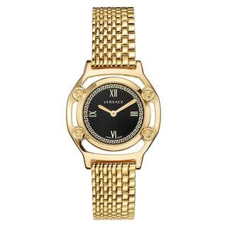 Versace - Uhr - Medusa Frame Watch Black - in gold - für Damen