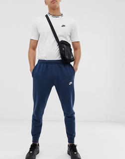 Nike - Club – Jogginghose mit engen Bündchen in Marine-Navy