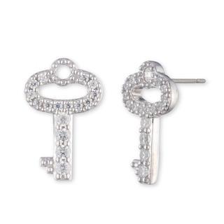 Lauren Ralph Lauren - Ohrringe - Earrings Key Stud Silver/Crystal - in silber - für Damen