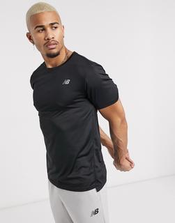 new balance - Running Accelerate – T-Shirt mit Logo in Schwarz