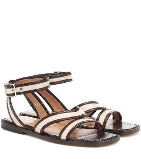 Dries Van Noten - Sandalen aus geprägtem Leder