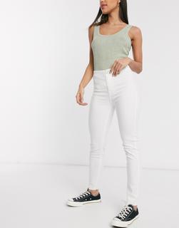 Tommy Jeans - Handwerker-Jens mit hoher Taille in Weiß