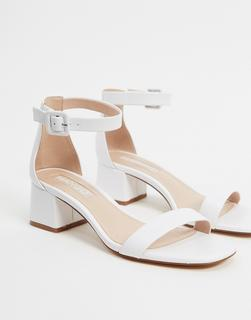 MANGO - Mittelhohe Sandalen in Weiß