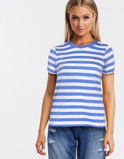 Polo Ralph Lauren - Gestreiftes T-Shirt mit klassischem Logo in Blau