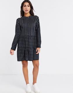 Vero Moda - Gestreiftes, gesmoktes Hemdkleid-Mehrfarbig