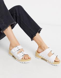 Calvin Klein - Vancy– Weiße Stollenschuhe mit dicker Profilsohle