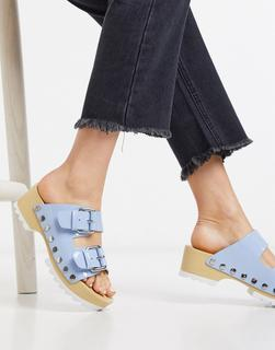 Calvin Klein - Vancy– Blaue Stollenschuhe mit dicker Profilsohle