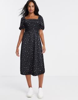 Monki - Noelle – Kleid in Schwarz