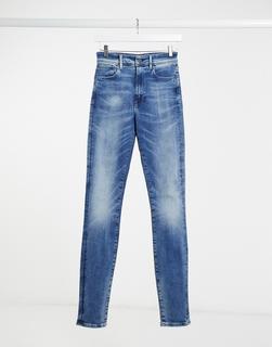 G-Star - Kafey – Super hoch geschnittene, enge Jeans-Blau