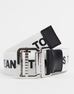 Tommy Jeans - Flechtgürtel mit Logo in Weiß