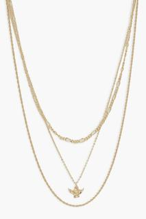 boohoo - Womens Cherub Charm Layered Necklace - Metallics - One Size, Metallics