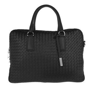 abro - Aktentasche - Nappa Lotus Handle Bag Black/Nickel - in schwarz - für Damen
