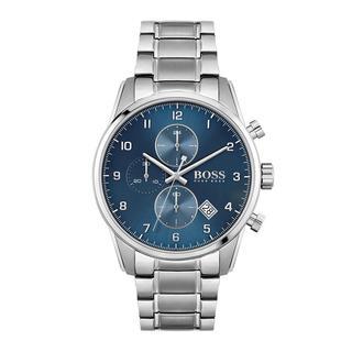 Boss - Uhr - Men Chronograph Skymaster Silver - in blau - für Damen