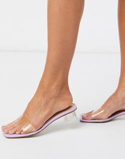 SIMMI Shoes - Simmi London – Arla– Pantoletten in Flieder mit Absatz-Violett