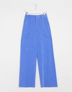 4th + Reckless - Zugeschnittene Hose mit weitem Bein in Blau