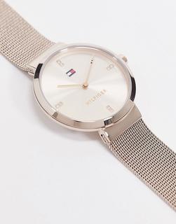 TOMMY HILFIGER - Sunray 1782218 – Armbanduhr mit Netzstoff in Roségold-Rosa