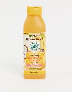 Garnier - Ultimate Blends Nourishing Hair Food – Bananen-Shampoo für trockenes Haar, 350 ml-Keine Farbe