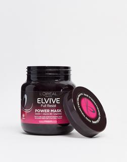 L'Oreal Elvive - L'Oreal – Elvive Full Resist – Haarmaske mit Biotin bei brüchigem Haar und Haarausfall, 680 ml-Keine Farbe