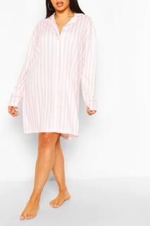 boohoo - Womens Plus Candy Stripe Jersey Nightie - Pink - 22, Pink