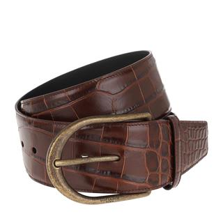 Saint Laurent - Gürtel - Croco Chic Corset Belt Castagna - in braun - für Damen