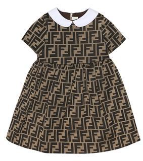 Fendi Kids - Baby Kleid aus Baumwolle