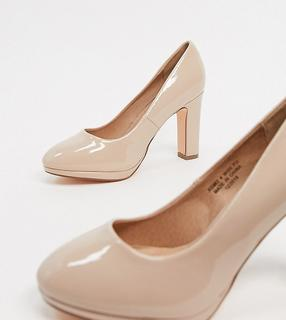 Simply Be Extra Wide Fit - Simply Be – Abigail – Pumps in Rosé, extraweite Passform-Rosa