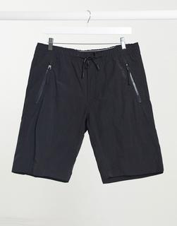 Calvin Klein - Shorts aus Nylon in Knitter-Optik in Schwarz