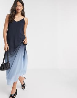 Vero Moda - Camisole-Maxikleid mit Farbverlauf in Blau
