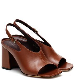 Dries Van Noten - Slingback-Sandalen aus Leder