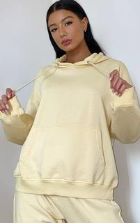 PrettyLittleThing - Lemon Washed Oversized Hoodie, Lemon