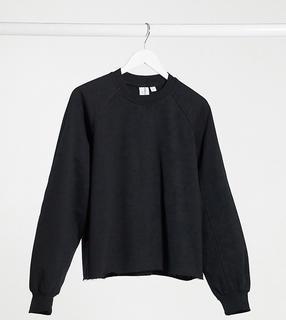 Collusion - Schlichtes Oversize-Sweatshirt in Schwarz