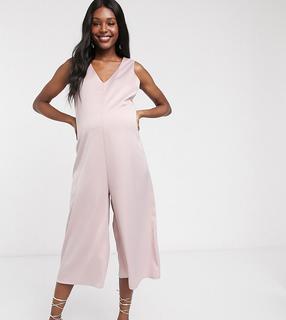 Blume Maternity - Ärmelloser Jumpsuit in Blush-Rosa